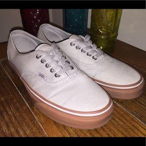 NEW Vans Low Top Grey and Gum Sole